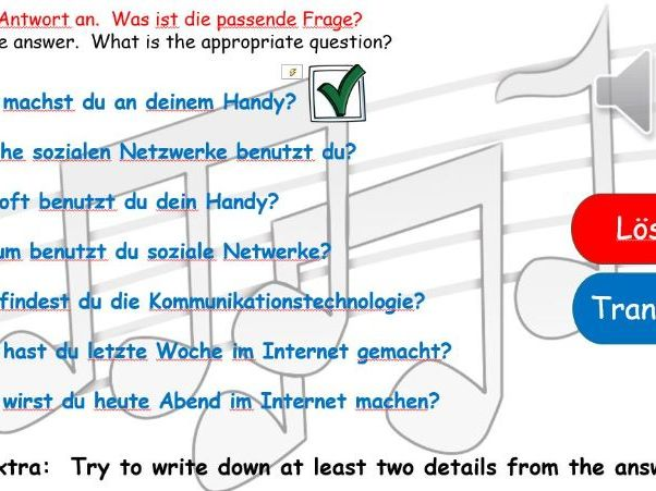 German GCSE speaking preparation on technology in everyday life