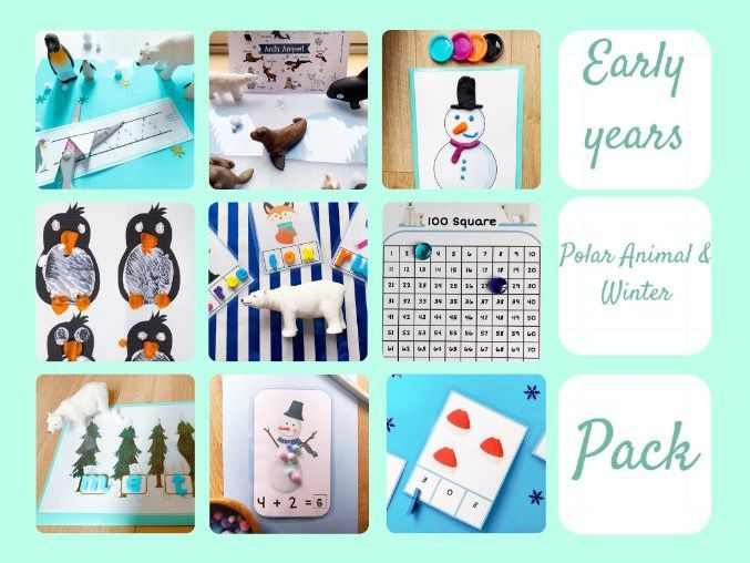 Winter / Polar Animal Resource Pack for Early Years