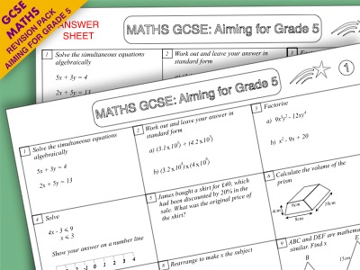 GCSE Maths Revision Pack: Aiming for Grade 5 (Pack 2)