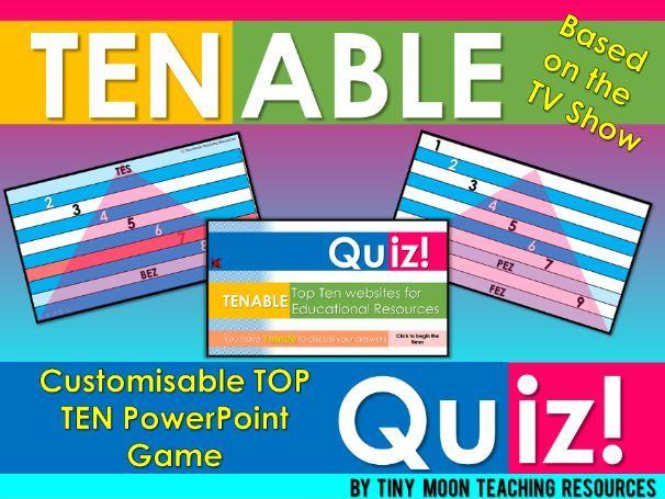 Tenable / Top Ten PowerPoint Activity