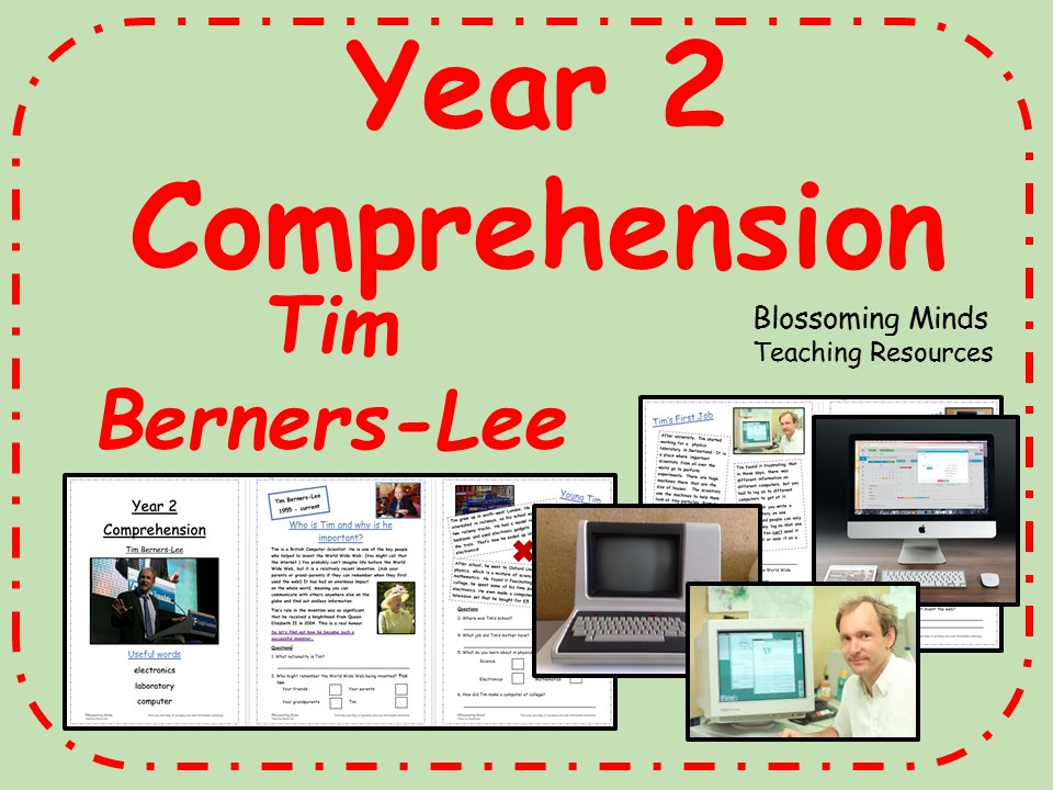 Year 2 Reading Comprehension Paper - Tim Berners-Lee