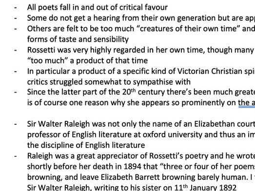 Christina Rossetti Criticism and Context Edexcel A Level