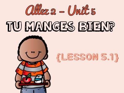 Allez 2 - Unit 5.1 - Tu manges bien? - Food - partitive - il faut/il ne faut pas - KS3 French