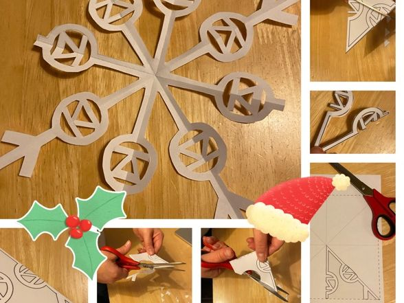 Physics Snowflake Templates