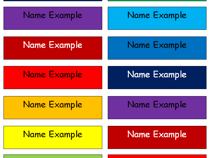 Name Labels x21