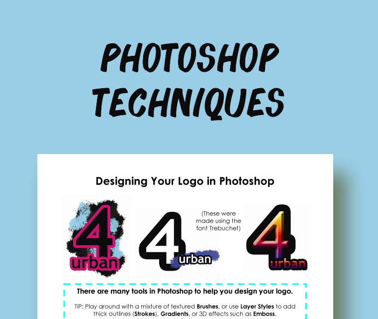 Photoshop Techniques: How to Add Grunge and 3D Effects to Logos