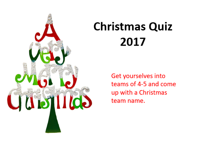 Christmas Quiz 2017 - Suitable for KS3 & 4