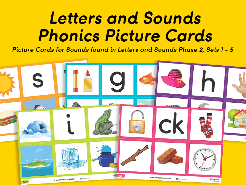 Phonics Picture Cards (Phase 2, Set 1-5)