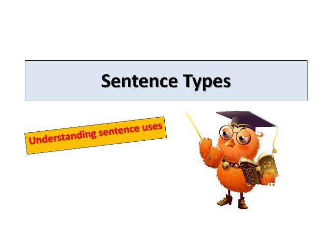 KS2 and KS3 English- Literacy- Sentence Types