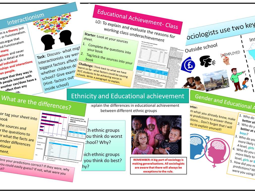 AQA Sociology GSCE Educational Achievement
