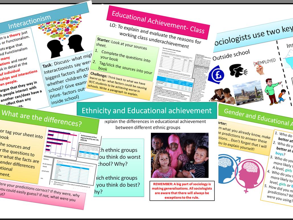 AQA Sociology GSCE Educational Achievement
