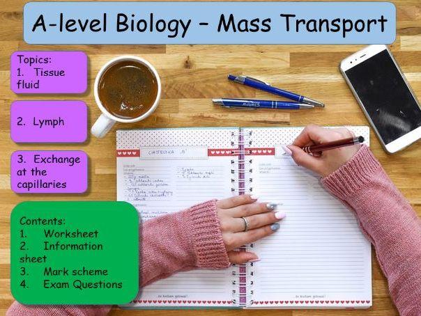 Tissue fluid, lymph A-level worksheet, exam qs & answers