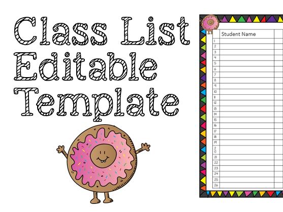 Class list - editable template