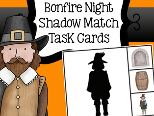 Guy Fawkes Shadow Matching Task Cards