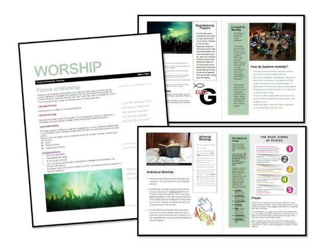 AQA Exam Booklet: Christian Practices: Worship and Prayer