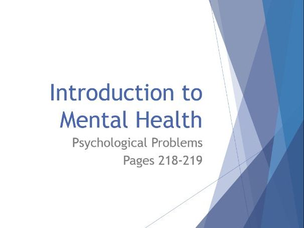 AQA GCSE Psychology - Lesson 1 - Psychological Problems - Introduction to Mental Health