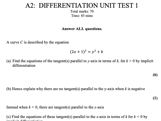 NEW A-level Maths: A2 (Year 13) Pure Unit Tests