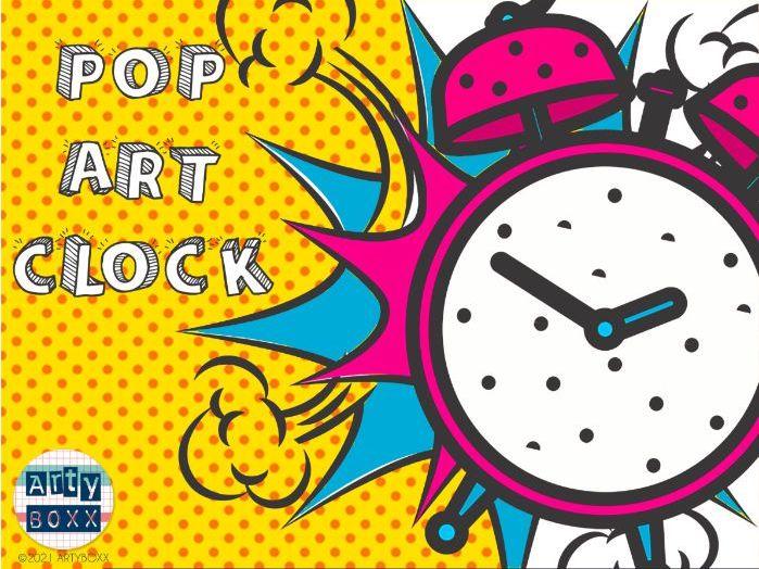 POP ART - Logos and Brands Clock Drawing Activity