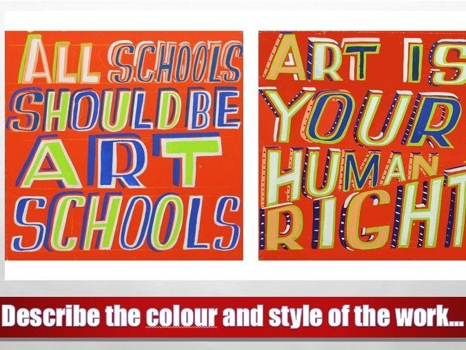Protest Art (6 lessons, 5 homeworks, 4 worksheets)