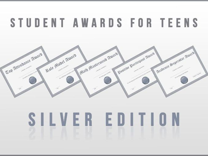 Student Awards for Teens Silver Edition