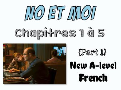 NO et MOI {Part 1} - Etude des chapitres 1 à 5 {New A-level}