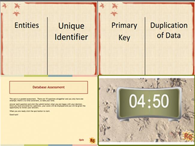 Database Dominoes & Graded Assessment Quiz