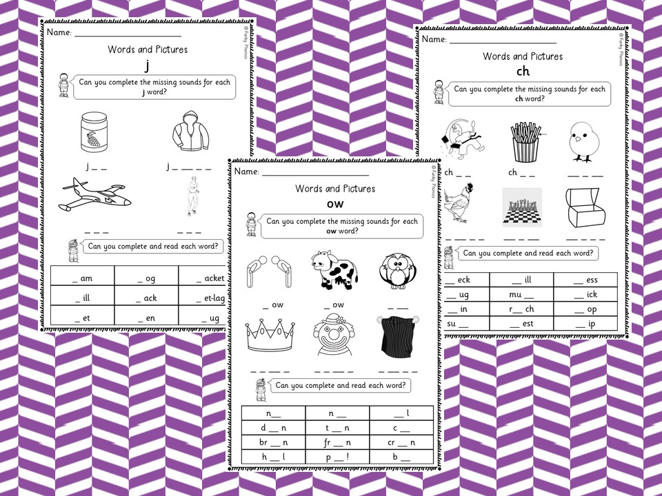 Phonics Phase 3 Words and Pictures