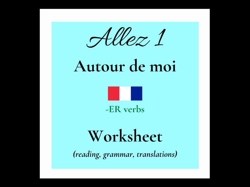 er verbs French