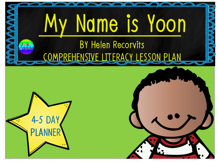 My Name Is Yoon by Helen Recorvits 3-4 Day Lesson Plan