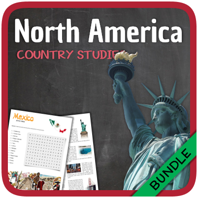 Country Studies Bundle (Mexico, Canada, Cuba and the United States)