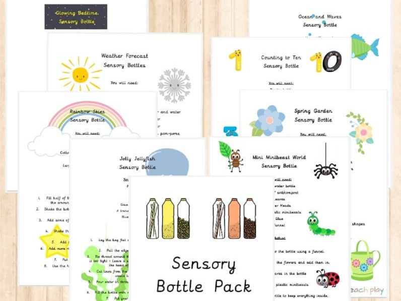 Sensory Bottle Recipe/Activity Pack