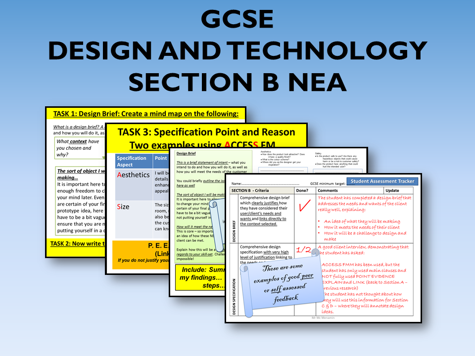 2021 AQA DT GCSE NEA Guide to Section B