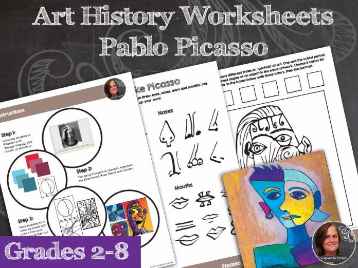 Pablo Picasso Art History Worksheets and Art Activities