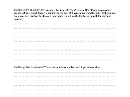 56 Pseudocode Challenges Workbook