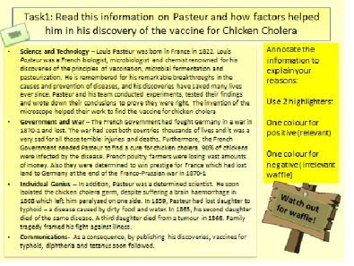AQA GCSE 9-1 Medicine Revision: How to answer the factor question