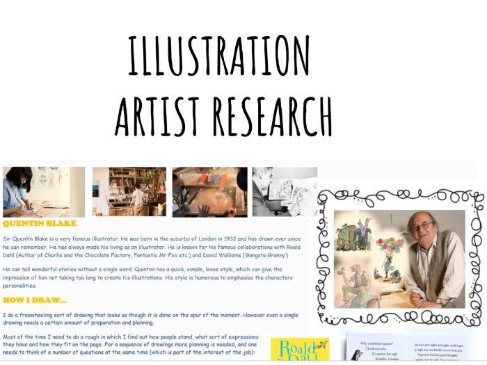 Quentin Blake Artist Study: Character Development
