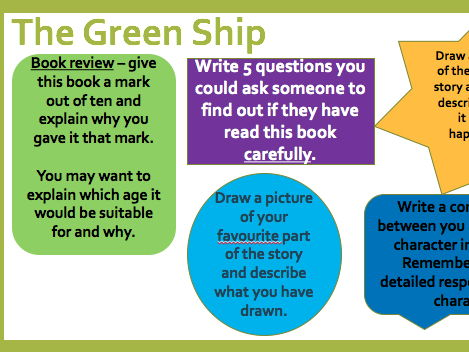 Green Ship Mini Guided Reading Activities