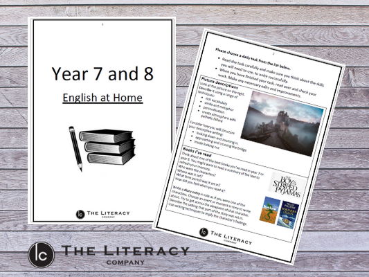 English learning from home - Year 7 & Year 8