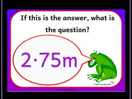 Numerical Reasoning Activity Cards and PowerPoint Presentation Upper KS2/KS3