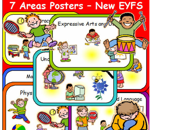 7 AREAS OF LEARNING POSTERS EYFS Teaching resources