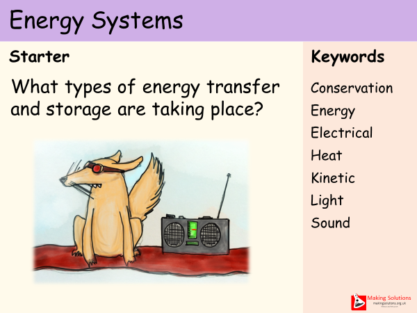 AQA Chapter 1 - Lesson 1 - Energy Systems