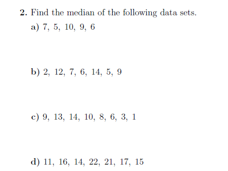 Mode, median and mean  worksheet (with solutions)