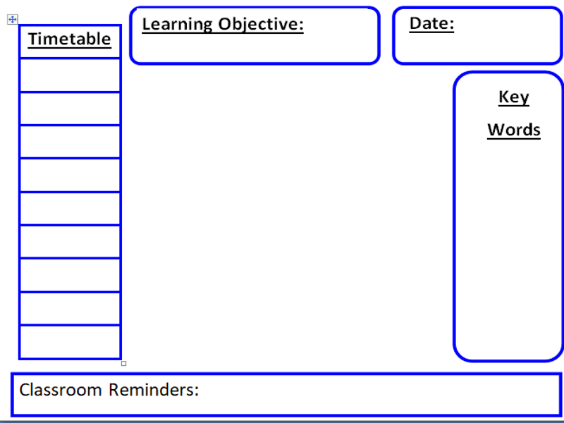 Useful Teaching Resources: Interactive Whiteboard Organiser, EYFS Timetable, Primary Timetable+more