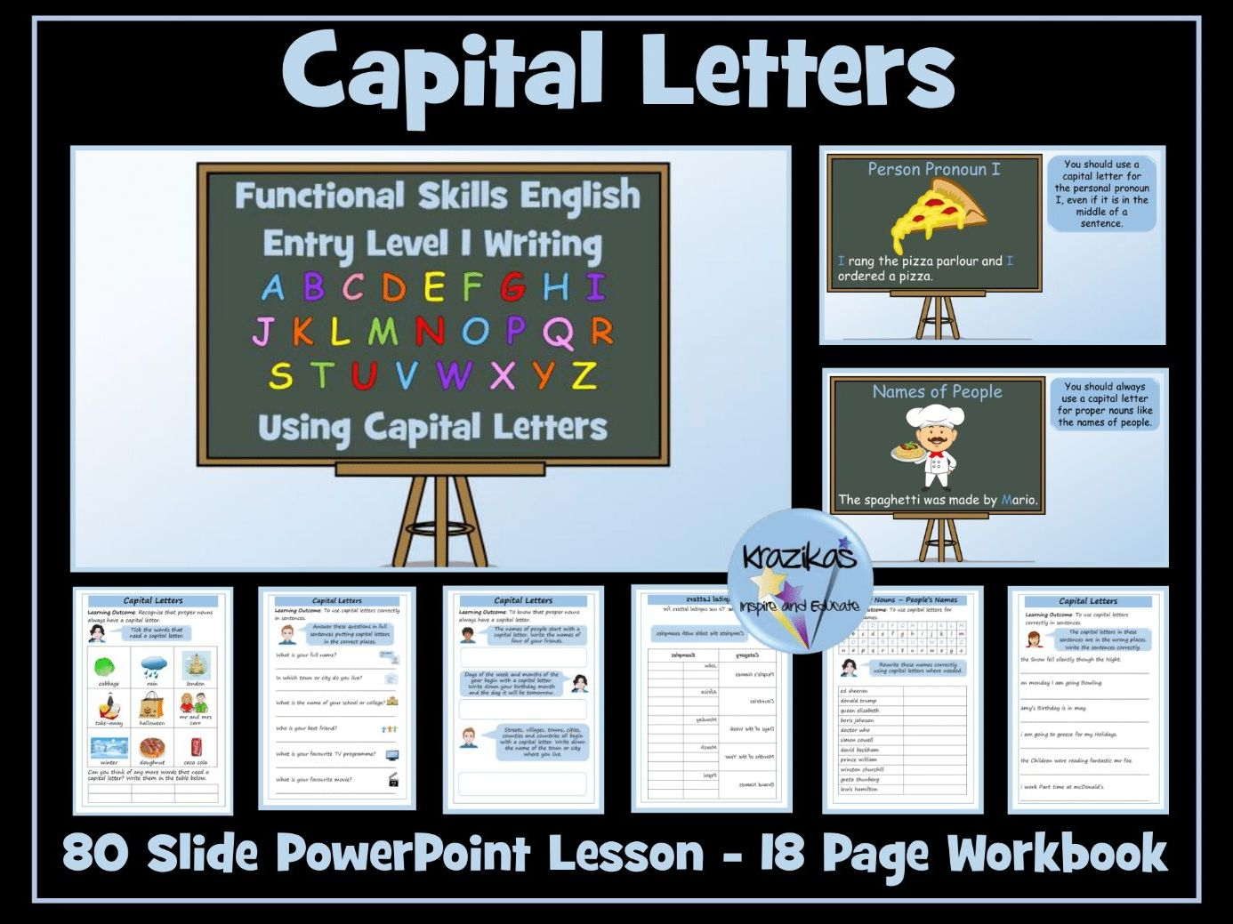 English Functional Skills - Entry Level 1 - Capital Letters