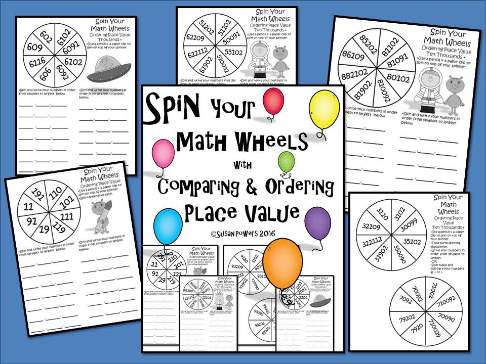 Spin Your Maths Wheels with Comparing & Ordering Place Value