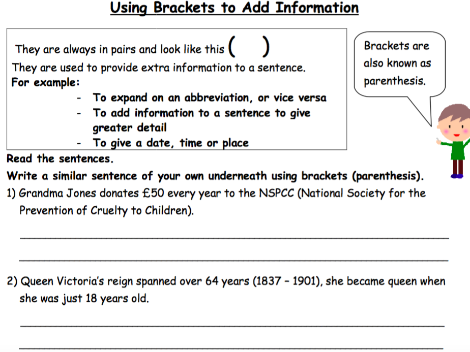 Parenthesis - Using Brackets