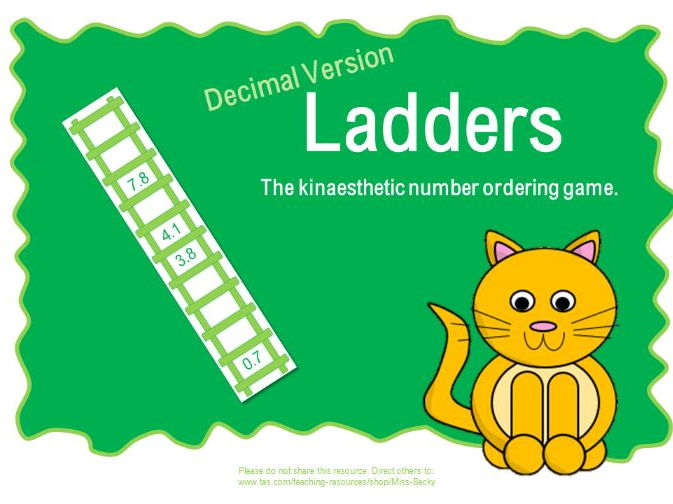 Ladders (Ordering decimal numbers 0-10 in tenths)