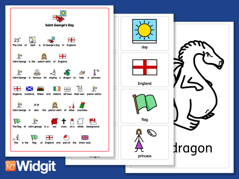 St George's Day - with Widgit Symbols