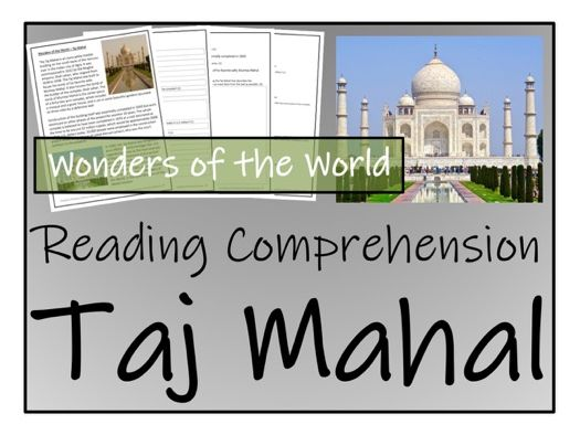 UKS2 History - Taj Mahal Reading Comprehension Activity