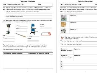 Year 7 Design and Technology booklet and PPT in line with new 1-9 GCSE